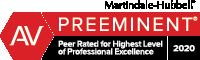 James E Shively Preeminent AV Rating Martindale-Hubbell 2020